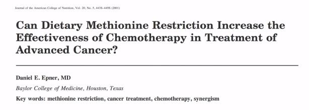 kan methioninebeperking door voeding de effectiviteit van chemotherapie verhogen in de behandeling van geavanceerde kanker