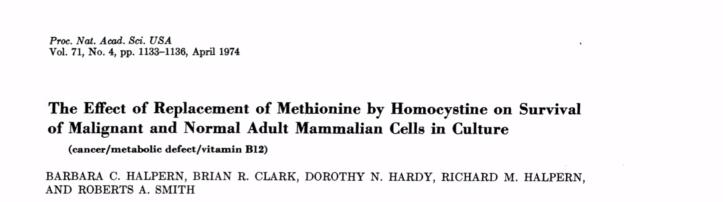Veel menselijke kankercellen zijn totaal afhankelijk van 'methionine'