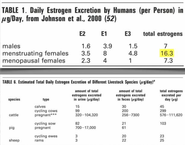 Veedieren produceren jaarlijks tonnen aan oestrogenen.