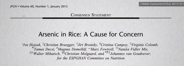 De aanwezigheid van arseen in rijst is zorgwekkend