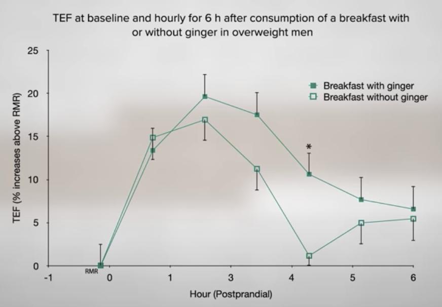 Effect van gember op metabolische snelheid